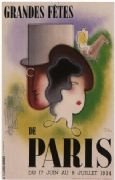 Grandes Fetes - Great fest of Paris poster 1934